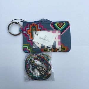 Vera Bradley Id case and lanyard set